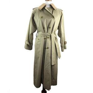 efe36d844a14 Vintage Burberry s Womens Petite 8 Trench Coat Tan